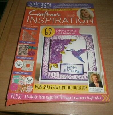 Crafter's Inspiration magazine Issue #22 2019 Stamp Set, Die, CD-Rom & more