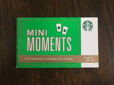 "Canada Series Starbucks ""MINI MOMENTS 2012"" Paper Booklet / New No Value"