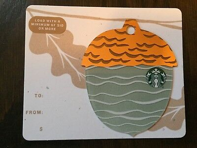 "Canada Series Starbucks ""2018 MINI ACORN - LIGHT BLUE"" Gift Card - New No Value"