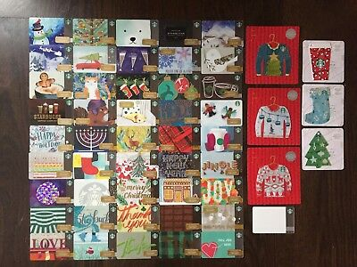 STARBUCKS CANADA SERIES '2016 HOLIDAY CARD SET (52 count)' - BRAND NEW SET
