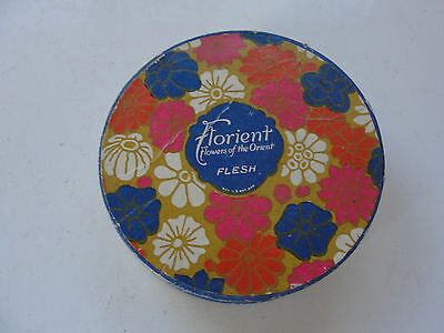Florient, Flowers of the Orient face powder container, Colgate & Co. NY, USA,old