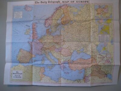 "Daily Telegraph "" Geographia"" Maps Purchased 1965: Europe, Middle East, Far East"