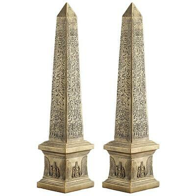 Design Toscano Golden Obelisk of Ancient Egypt Statue: Set of Two