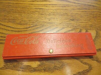 Coca-Cola pencil & ink pen,ruler,sales blotters, case,all original snap shut box