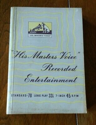 His Master's Voice Recorded Entertainment 1953/4 Overseas Edition Record Catalog