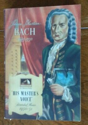 His Master's Voice Recorded Music 1950/51 Overseas Edition Record Catalog Bach