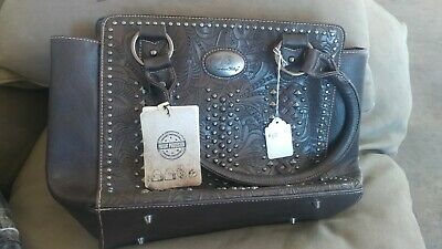 db2a3db62 American Bling Concealed Gun Purse Wallet Set Tooling Patchwork Coffee brown