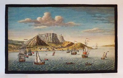 1754  South Africa  -Cape Of Good Hope -Very Rare Etching Coa Framed