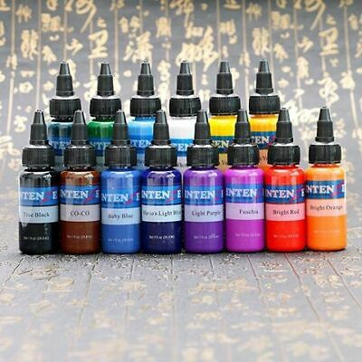 14pcs/set 1oz Tattoo Ink Pigment Set Kits Intenze Eternal Body Tattoo Ink Pro