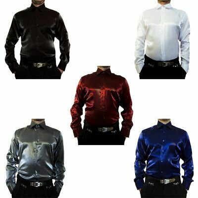 Wedding Shiny Shirt K9 Men's Wedding Shirt Bügelfei Kent Collar