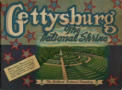 1952 Large Photo Booklet - Gettysburg - The National Shrine - Nice Condition