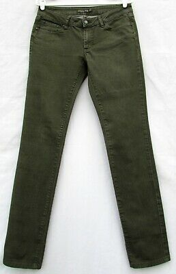 f471ef262c5f PRANA KARA JEAN Low Rise Slim Fit Cargo Green Jeans Pants Womens sz 8 - 29  x 32