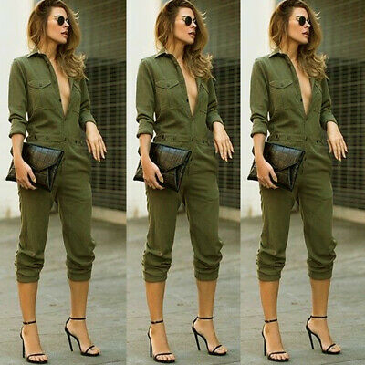 Women Long Top Pants Set Two Piece Outfits Jumpsuit Playsuit Casual Clothes