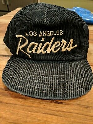 bb814f27f8d89a Vintage Los Angeles Raiders The Cord Sports Specialties Hat Snapback Script  Cap