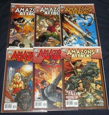 AMAZONS ATTACK #1-6 (NM) Full Set! WONDER WOMAN! QUEEN HIPPOLYTA 2007 DC
