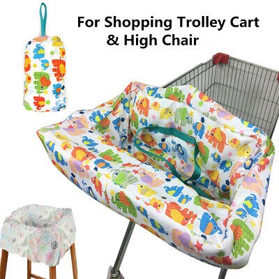 Baby Shopping Trolley Cart Seat Pad Child Kid High Chair Cover Protective Mat US