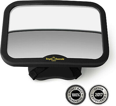 Royal Rascals Baby Car Mirror - Rear View Car Seat Mirror for Rear Facing Babies