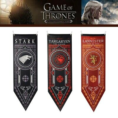 "Game of Thrones House Stark Targaryen Banner Flag Wall Hanging Home Decor 19""*59"