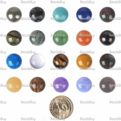 18mm Thick Round cabochon CAB flatback semi-precious gemstone Save $ in bulk