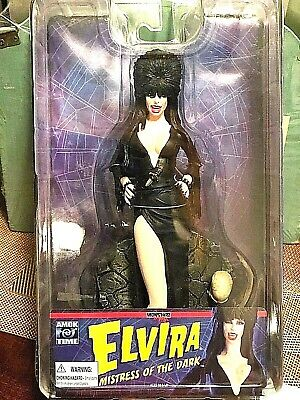 "Amok Time   Elvira  ""Mistress of the Dark""   collector 8"" inch action figure"