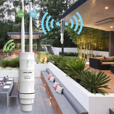 Wavlink 2.4G+5GHz Wireless AP Repeater Wifi Extender Outdoor Wifi Repeater AU