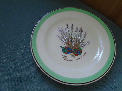Lucky White Heather From Glasgow - Small Dish - Ridgways Crested China