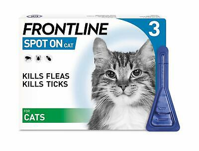 Frontline Spot On Flea and Tick Treatment for Cats 3 Pipettes