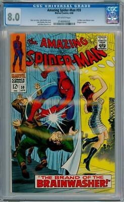 Amazing Spider-Man #59 Cgc 8.0 1St May Jane Cover Stan Lee John Romita Marvel
