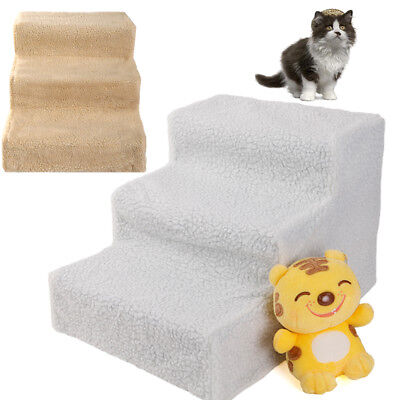 New Plastic Pet Cat Dog Stairs Ladder 3 Step Play Ramp White/Beige Outdoor
