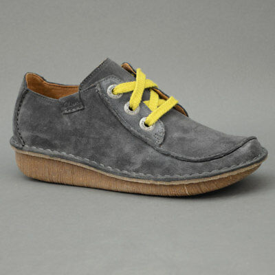 Clarks Funny Dream Chaussures Femmes Chaussures Basses Cuir Chaussure Lacée Blue Grey 26132344