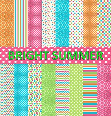 BRIGHT SUMMER SCRAPBOOKING PAPER - 16 x A4 pages