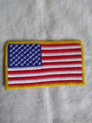 """U.S. FLAG Patch  3.5"""" wide,  SEW On- Proud to Wear!!- FREE shipping USA"""