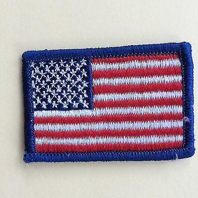 """U S FLAG- New- 2.5""""; Embroidered- Sew On Flag- FREE shipping USA"""
