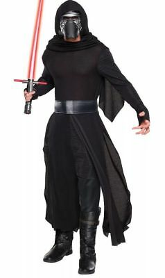 Star Wars Mens Costume Size XL Fits 44-46 Kylo Ren Deluxe + Lightsaber  Exc Cond