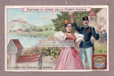 Danube River In Austria Autriche Danubio 1898 Trade Ad Card