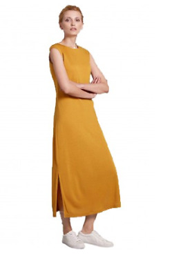 NEW WOMENS LADIES EX MARKS AND SPENCERS Autograph Mustard Maxi Dress 6-18 NEW