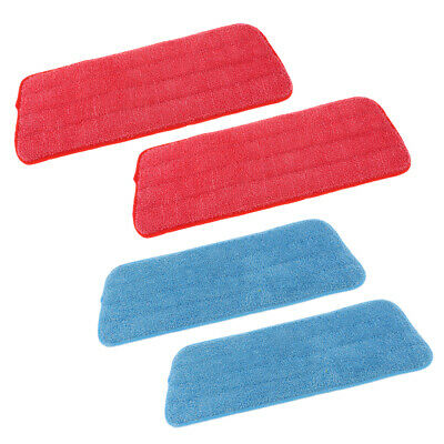 4pcs Absorbent Microfiber Mop Pads Washable Replaceable Flat Spray Mop