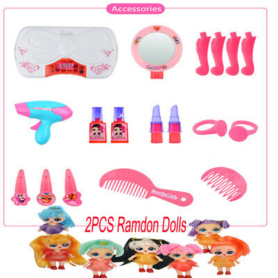 Kid Portable Electronic Child Bedroom Dressing Table Girl Toy Makeup Play Set UK
