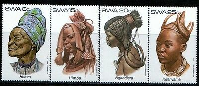 SWA - SOUTH WEST AFRICA 1982 African Tribal Headdresses Series 1 SG 402-405 MNH