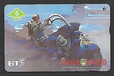 Btg531 Judge Dredd #3 Mint Bt Phonecard