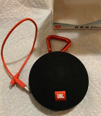 New Open Box JBL Clip 2 Waterproof Portable Bluetooth Speaker - Black Orange