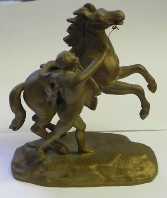 "Cast White Metal ""Marly Horse"" Guillaume Coustou"
