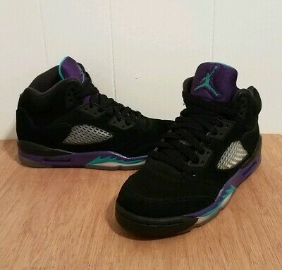 c607cf4dae1544 2013 Nike Air Jordan V Retro 5 Black Grape size 4Y