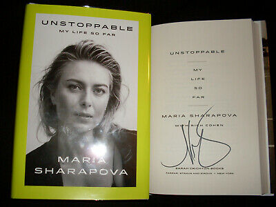 Maria Sharapova signed Unstoppable 1st print HC book Signed In Person NOT TIPPED