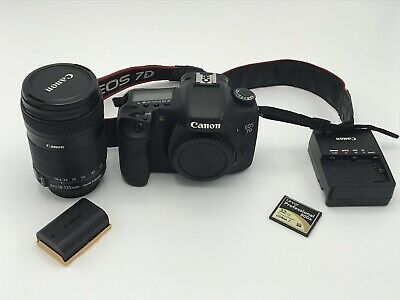 Canon EOS 7D 18.0MP Digital SLR Camera With Canon 18-135mm F3.5-6.3 - Black