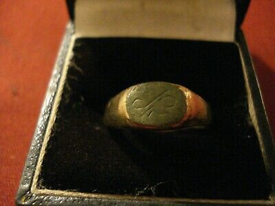 Genuine Ancient Roman Bronze Ring--'high Priest Symbols'--Staff And Snake