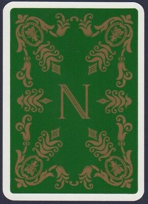 Playing Cards 1 Single Swap Card - Vintage French Wide NAPOLEON Crest   #3