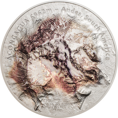 Cook Islands 2018 $25 7 Summits - Aconcagua 5 Oz Silver Coin