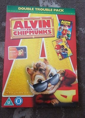 Alvin And Chipmunks Double Pack Dvd Sealed Alvin 1 And 2 Kids