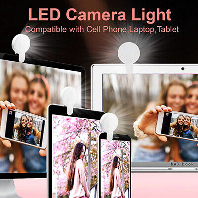 Portable Beauty Selfie LED Light Ring Fill Camera Flash For Mobile Phone iPhone